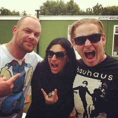 Corey Taylor, Christina Scabia, and Ivan Moody ❤