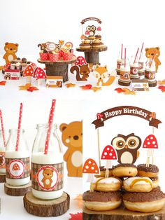 Woodland animals birthday party ideas with DIY creative decorations, party printables, food and favors! #birthday #birthdayparty #partyideas #kidsbirthday #woodlandparty #woodlandbirthday