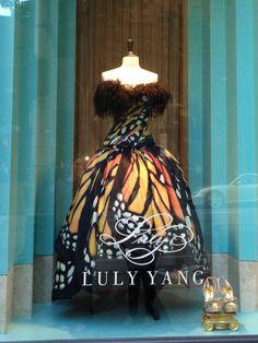 Amazing Butterfly dress at Luly Yang, Seattle, WA.