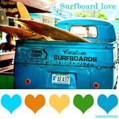 #color  surfboard love