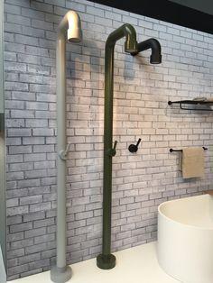 Bathroom Inspo, Bathroom Inspiration, Bathroom Ideas, Sink, Black Bath, Bath Shower, Interior, Bathrooms, Industrial