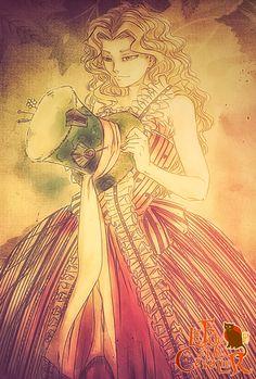 "Alice Kingsleigh of ""Alice in Wonderland"" Illustration by ©HoshiroRyuko Le Fou et le Cavalier by ©HoshiroRyuko"