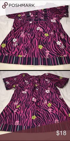 Koi Scrub Top Scrub top in well loved used condition with two front pockets. All scrubs has been laundered in cold water, lined dried and come from a smoke and pet free home. If you any questions please feel free to ask 😊 Koi Tops