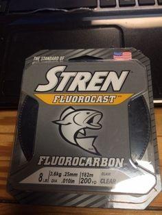 Stren Flourocast 8 lb. test Fluorocarbon line 200 YDS Clear #STREN