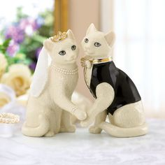 Elegant and classy, these cat bride and groom figurines can be used on top of a wedding cake and then you can keep them as a nice keepsake for after the wedding. Description from mydogatemymoney.com. I searched for this on bing.com/images