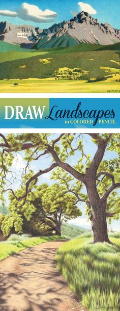 Drawing landscapes in colored pencil can be intermediately. Let these 26 master colored pencil artists show you exactly how they draw water, trees, mountains, skies and more with a variety of colored pencil tutorials and mini demos.