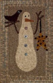 The Red Saltbox Little Snowman Rug Hooking Pattern