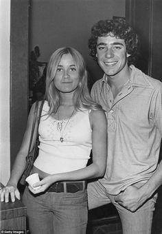 Co-star: With her Brady Bunch 'brother' Barry Williams, who Maureen revealed she dated at one time when the show was being filmed