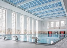 The Schwimmhalle Finckensteinallee originally opened in 1938, but closed in 2006 due to gradual damage and construction defects. Veauthier Meyer Architects has just completed its renovation.