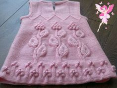 not really crochet but it's worth to see Baby Knitting Patterns, Knitting For Kids, Lace Knitting, Crochet For Kids, Knitting Designs, Baby Patterns, Crochet Baby, Knit Crochet, Knit Baby Dress