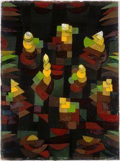 Paul Klee - Pflanzenwachstum/Croissance des plantes, 1921 - Huile sur carton - 54 * 40cm - Centre Pompidou, Paris