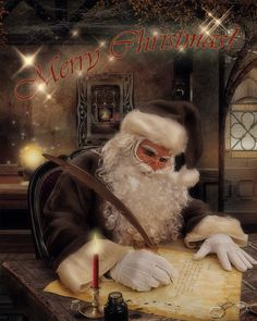 He's makin' a list, too long to check twice, he's still gonna find out if you're naughty or nice!