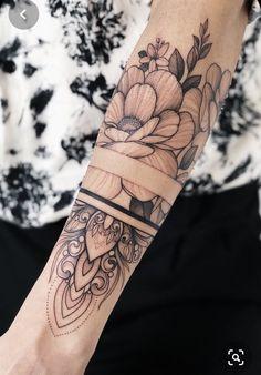 Tattoodo - Wounderbar - tattoo old school tattoo arm tattoo tattoo tattoos tattoo antebrazo arm sleeve tattoo Forearm Band Tattoos, Forarm Tattoos, Foot Tattoos, Flower Tattoos, Body Art Tattoos, Small Tattoos, Girl Tattoos, Arabic Tattoos, Forearm Flower Tattoo