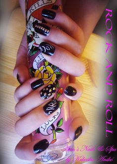 Rock  gel nails