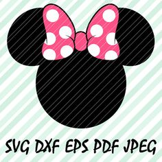 Minnie Mouse Bow Pink SVG DXF Eps Pdf Vector Cut by SVGvectorArt
