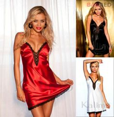 Satin Lace Chemise Nightdress CORDOBA Luxury Nightwear Sleepwear Slip Nightie