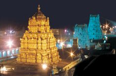 One of the most lovely sights, the Tirumala temple at Night.