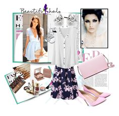 """""""Beautifulhalo  5"""" by ramiza-rotic ❤ liked on Polyvore featuring D'Argent, Disney, Georgini, Urban Decay, Gianvito Rossi, Kate Spade, vintage, women's clothing, women and female"""