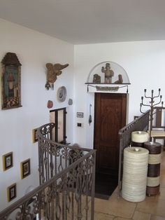 View from Living room to stairs