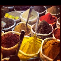 Indian spice market.