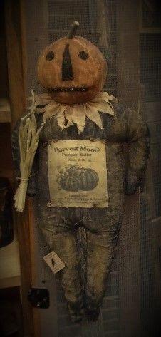 Large Pumpkin Man  http://theprimitiveblackhatsociety.blogspot.com/ https://www.facebook.com/primitiveblackhatsociety  https://www.etsy.com/shop/PrimitiveBlackHat