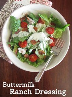 oh, that's tasty! -- Buttermilk Ranch Dressing Recipe (to use as dip)