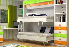 Mejores 7 Imagenes De Camas Nido En Pinterest Couple Bed Trundle - Camas-dobles-infantiles-para-espacios-reducidos