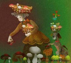 Mushroom hunting by Michiko Nishikawa