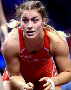Helen Maroulis, wrestler, US First Olympic gold medal for women in wrestling! 2016 August 17!  Rocky Point, MD
