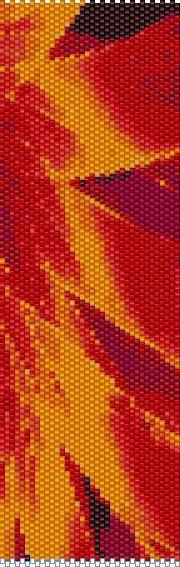 BPFR0003 Fire Ribbons  Even Count Single Drop par greendragon9