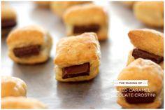 Salted Caramel Chocolate Crostini - Puff Pastry