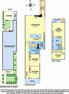 14 Edgerton Street, Hawthorn VIC 3122 Floorplan. Pinned for the master bedroom layout