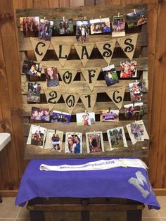 Photo Display | DIY Graduation Party Ideas for High School | DIY College Graduation Decorations Ideas