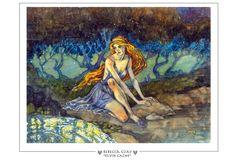 Elven Cache Magic The Gathering Prints - Rebecca Guay