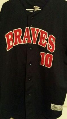 9bf5e6cbc Genuine Merchandise True Fan Series Atlanta Braves  10 Chipper Jones Jersey  XL Fan
