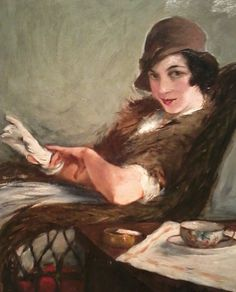 """whataboutbobbed: """"Portrait of a Lady by William Glackens """" American Realism, American Artists, Whistler, William Glackens, Ashcan School, Gustave Courbet, Most Famous Artists, Williams James, European Paintings"""