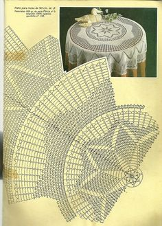 Мобильный LiveInternet Muestras y Motivos Especial Panos 1 Crochet Tablecloth Pattern, Crochet Doily Diagram, Crochet Doily Patterns, Crochet Art, Crochet Round, Crochet Home, Thread Crochet, Filet Crochet, Crochet Motif