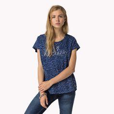 Hilfiger Denim Alexandra Printed T-shirt - blue depths-pt (Blue) - Hilfiger Denim T-Shirts - main image