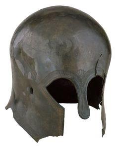 19.60 Bronze Corinthian helmet, made in Greece, 6th century BC.