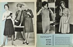 """1960s Fashion. """"Neuer Schnitt"""" 12.1962"""