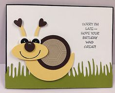 Found this on eBay. How cute!!!              Snail Punch Art Stampin Up Birthday Card Kit (5 cards)