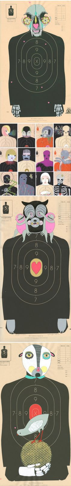Jennifer Davis, Hand Painted Paper Shooting Targets