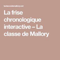 La frise chronologique interactive – La classe de Mallory