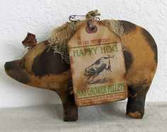 Spotted Pigs Primitive Pigs Spotted Hogs by cavecreekprimitives - please visit her Etsy shop! Her work is WONDERFUL!
