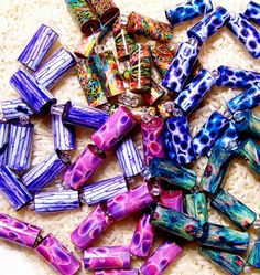 Handmade Paper Tube Bead Pick Your Color by PassionForPaperBeads