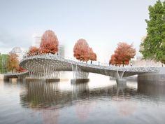!melk landscape architecture / urban design / projects / Pedestrian Bridge, Providence, RI