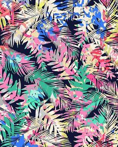 Tropical Palm Confetti by Natasha Thornton →… Textile Patterns, Print Patterns, Leaf Prints, Floral Prints, Tropical Art, Tropical Prints, Floral Texture, Drawing Projects, Tropical Pattern