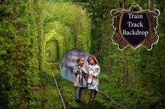 Digital Background Train Tracks Backdrop Photography Backgrounds Replacement Photoshop Textures Back Patch