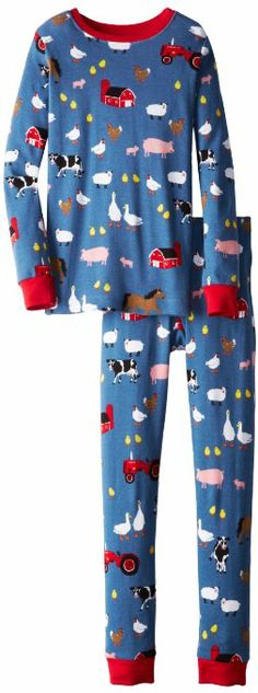 Hatley Boy's Ovl Farmer Jack Pyjama Set: Amazon.co.uk: Clothing