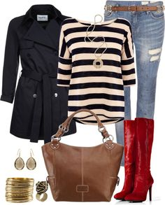 """""""Spring Outfit"""" by angela-windsor on Polyvore. Yes please. LOVE those red boots!"""